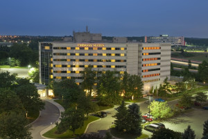 Exterior view of Embassy Suites Detroit - Troy/Auburn Hills.