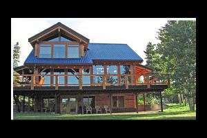 Exterior view of The Lodge at Chilko Lake.