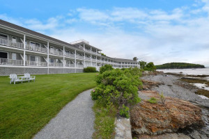 Oceanfront lodge at Bar Harbor Inn & Spa.