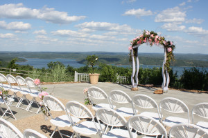 Wedding ceremony at Whitney Mountain Lodge.