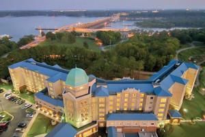 Exterior view of Marriott Shoals Hotel & Spa.