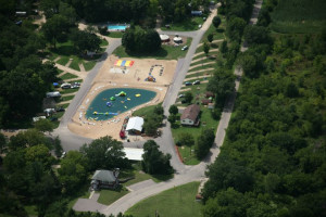 Aerial View of Merry Mac's Campground