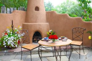 Outdoor Fireplace at Antigua Inn