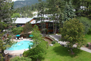 Outdoor pool at Fairmont Hot Springs Resort.
