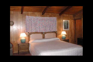 Guest room at Jaye's Timberlane Resort.