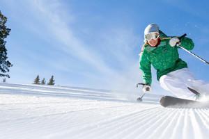 Skiing at Range View Rentals.