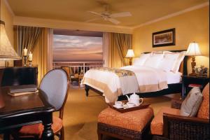 Guest room at Key Largo Marriott Bay Resort.