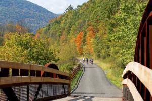 Biking at Penn Wells Lodge.