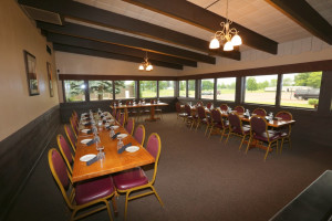 Banquet room at Coachman's Golf Resort.
