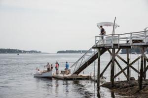 Fishing at Linekin Bay Resort.