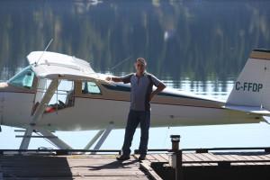 Boat plane at Tyee Lake Lodge.
