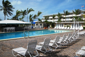 Outdoor pool at Sombrero Resort & Marina.