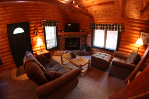 Cabin Living Area at Cedar Lodge & Settlement