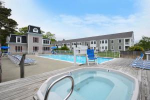 Outdoor pool at Bar Harbor Inn & Spa.