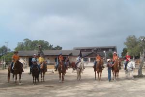Horseback riding at Silver Spur Ranch.