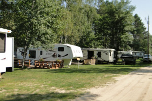 RVs at Becker's Resort & Campground.