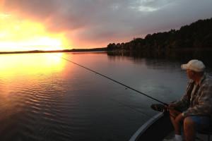 Fishing at Auger's Pine View Resort.