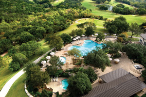 Aerial view of Omni Barton Creek Resort & Spa.