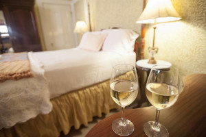 Guest room at Camellia Inn.