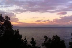 Lake view at Tigh-Na-Mara Resort.