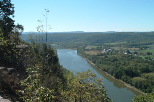 Aerial River View Near The Wyalusing Hotel