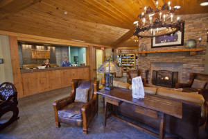 Lobby view at Holiday Inn Club Vacations Smoky Mountain Resort.