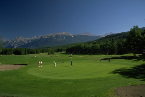 Golf course near Mount Robson Inn.
