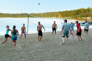 Beach volleyball at Cragun's Resort.