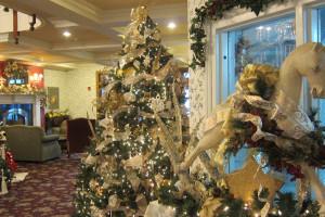 Holiday decor at The Ashley Inn.
