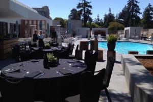 Poolside Reception at Hotel Paradox