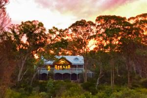 Exterior view of Diamondvale B&B Cottages.