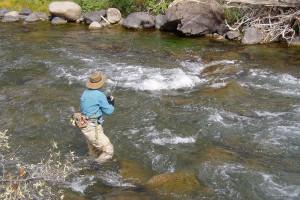 Fishing at Aunt Bug's Cabin Rentals, LLC.
