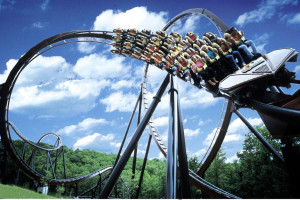 Silver Dollar City theme park near Thousand Hills Golf Resort.