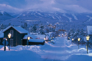 Winter landscape at Summit Vacations.