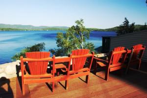 Lake view at The Depe Dene Resort.