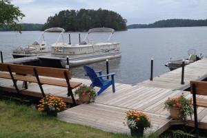Lake view at Anderson's Resort.