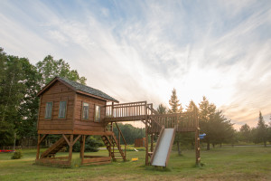 Kid's playground at Door County Cottages.