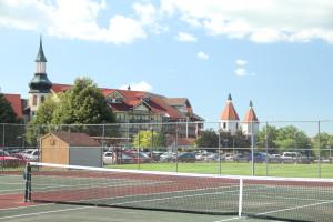 Tennis court at Bavarian Inn of Frankenmuth.