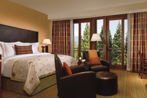 Guest room at Ritz-Carlton Lake Tahoe.