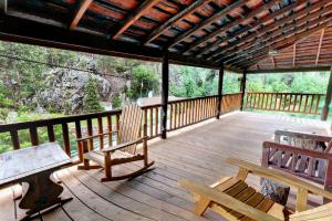 Porch view at Hisega Lodge.