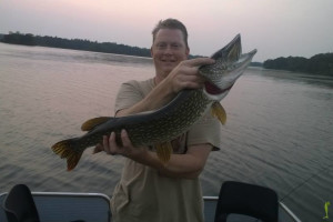 Fishing at Curriers Lakeview Lodge.