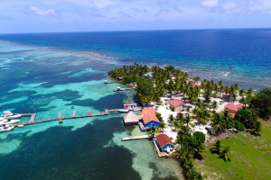 Aerial view of Blue Marlin Lodge.