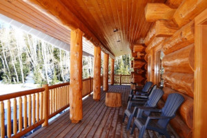 Vacation rental deck at Brian Head Vacation Rentals.