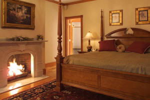 Guest bedroom at The Wentworth.