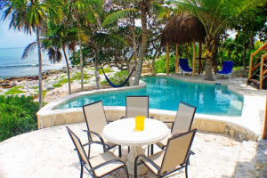 Rental pool at Casa Zama II.