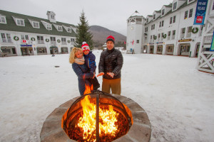 Bonfire at Waterville Valley Resort.