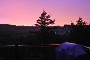 Sunset at Vacation Home in Branson.