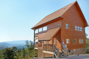 Cabin exterior at Timber Tops Luxury Cabin Rentals.