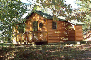 Cabin exterior at Galles' Upper Cullen Resort.