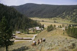 Horseback riding at 320 Guest Ranch.